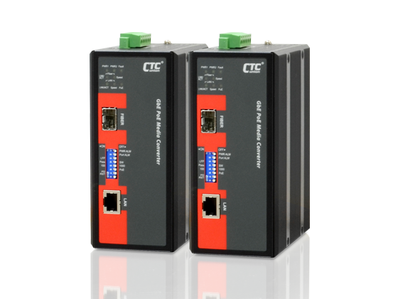 Media converter with POE - RJ45 to SFP with POE model IMC-1000S-PH12