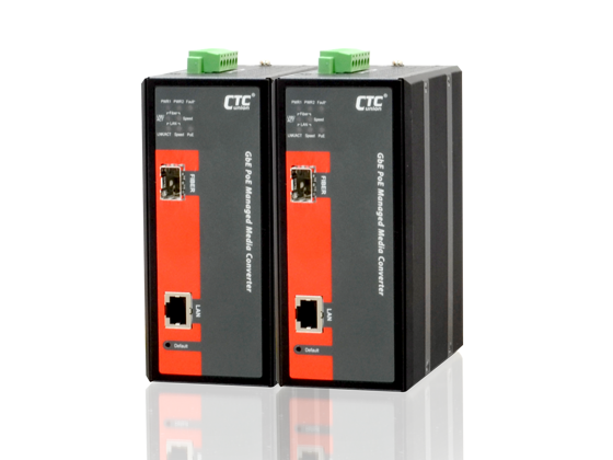 Mediaconverter with POE - RJ45 to SFP with POE