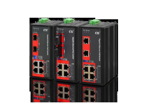 Switch công nghiệp 4,6 RJ45 1Gb+2 SFP 1Gb+4 POE 120W