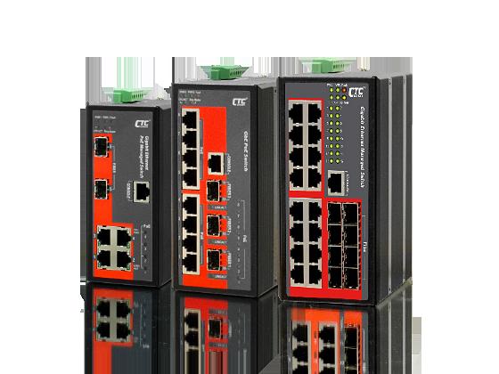 Switch công nghiệp 4,8,16 RJ45 1Gb+2,3 SFP 1Gb + 4,8 port POE