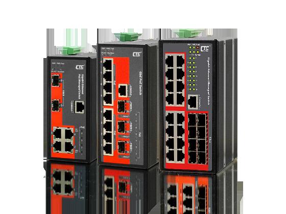 Switch công nghiệp 4,8,16 RJ45 + 2,3,8 SFP + 4,8 POE
