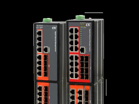 Switch công nghiệp 8,16 port RJ 45 1 GB + 4, 8 SFP 1GB + SyncE